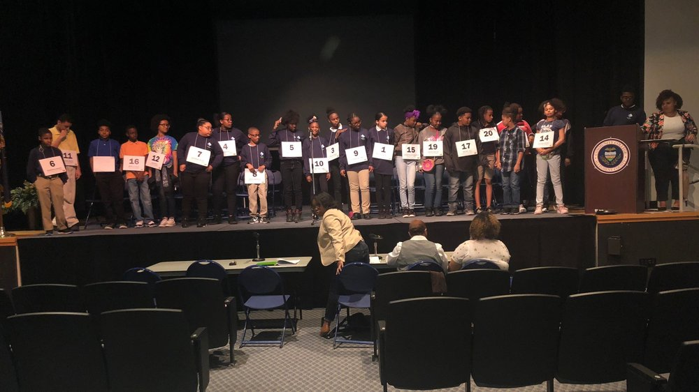 Urban Pathways Spelling Bee contestants at CCAC