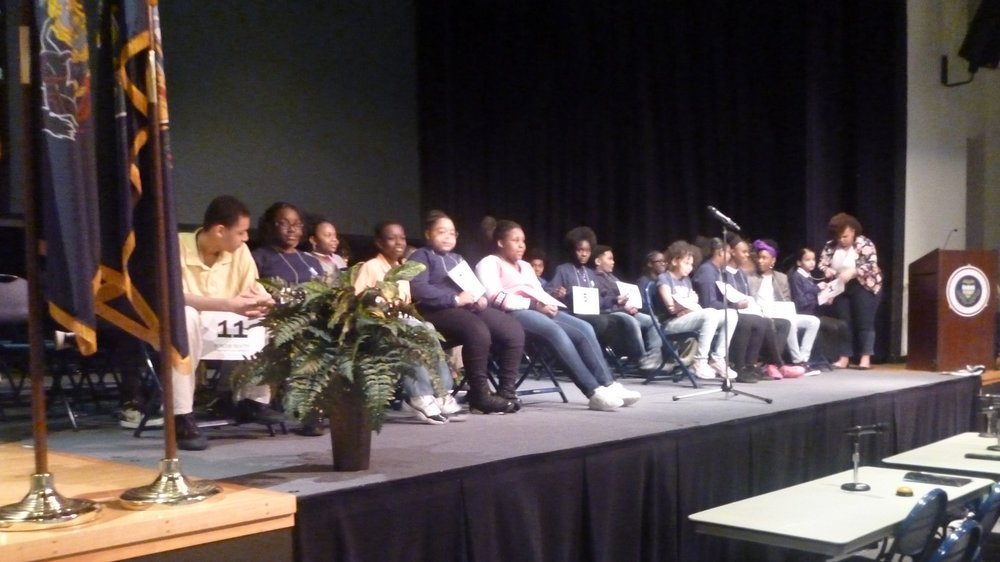 spelling bee participants from Urban Pathways 6-12
