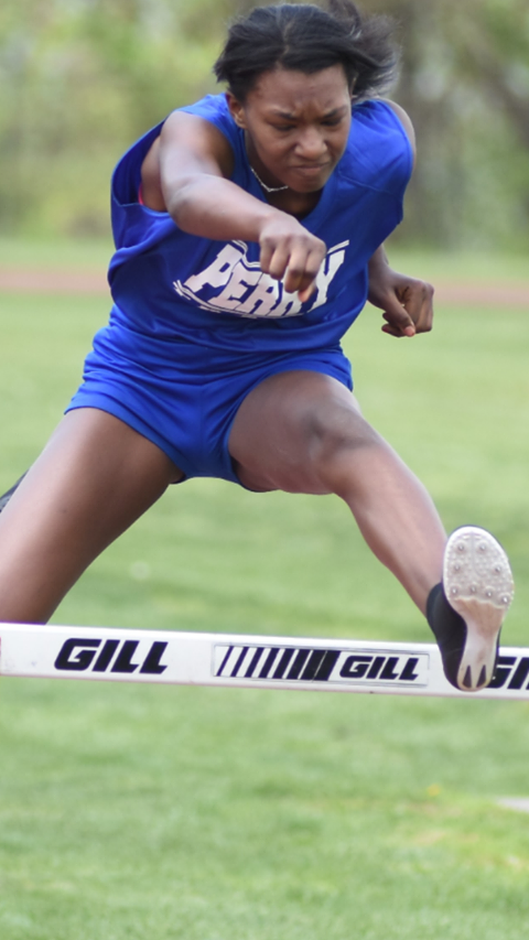 Urban Pathways junior Amber wins the 100mh City League championship