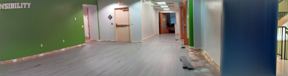 new floors being installed at UPCS 6-12