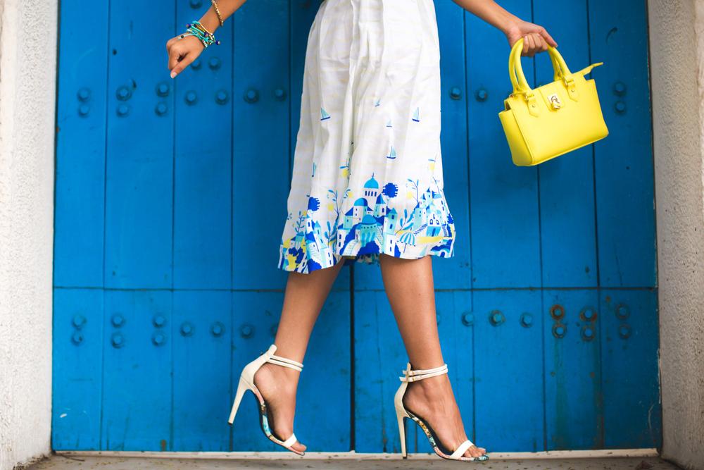 Skirt - Chumbak , Top - AQ/AQ , Bag - Primark , Sandals - River Island , Bracelet - Chumbak , Earrings - Aldo