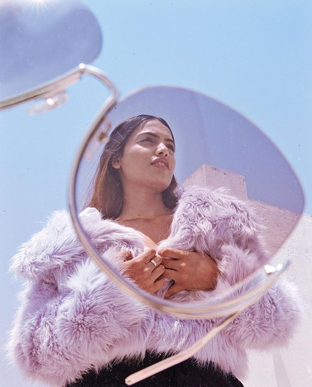 "Giving the matrix-like micro sunglasses a break with these delicate, oversized @chloe ones from @gemopticians // Fancy a pair?  Use ""VARNA10"" in-store or online to get a 10% off @gemopticians // Shot by @avinashmurthy 🔮"