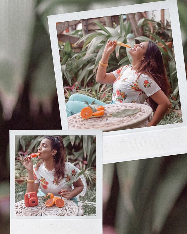 Grateful for grapefruits 🧡 // Wearing @forever21_in // Shot by @shettystiltedlens at @samtaravishankar 's pretty garden!