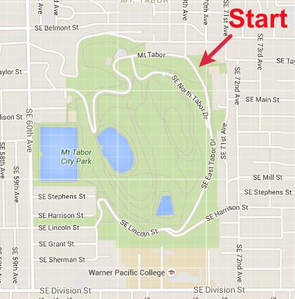 Mt Tabor Park Map Mt. Tabor — Columbia River Orienteering Club