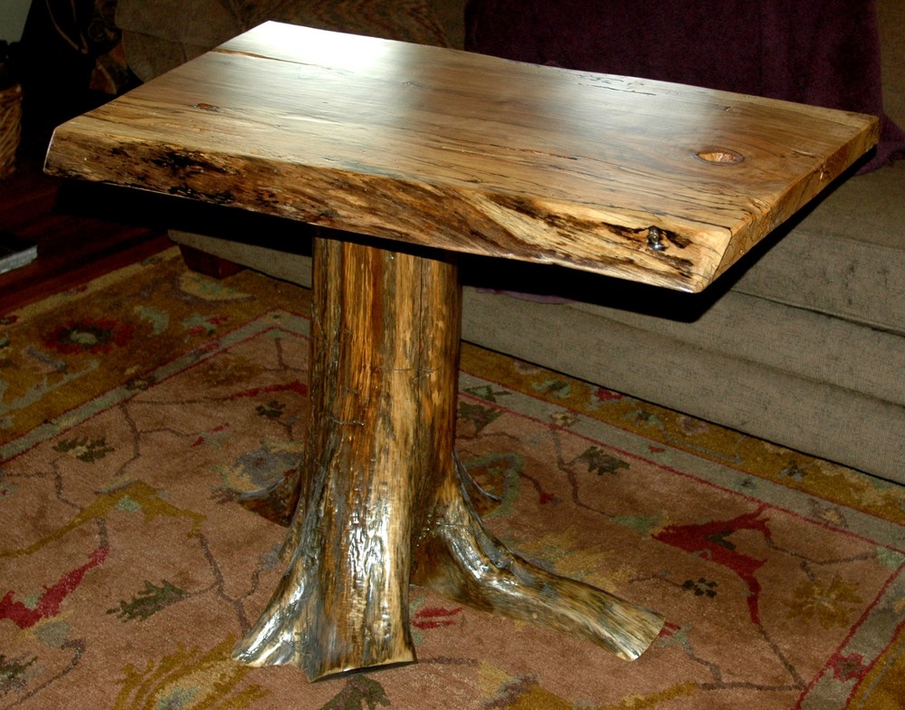 Stump, Spalted Maple Table ...