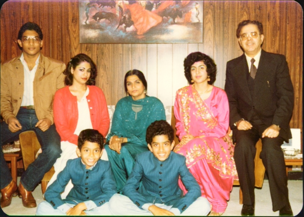 Pakistan visit in the 1980s. Babies are young boys now.