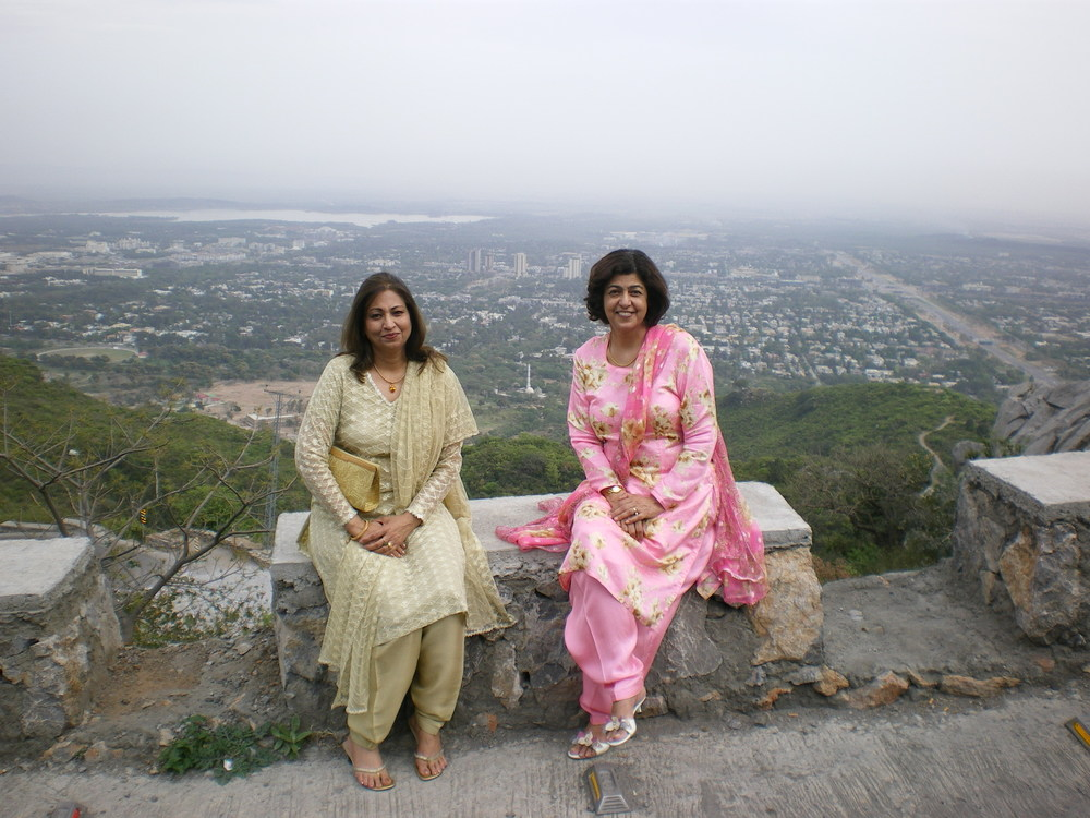 Overlooking the valley of Islamabad
