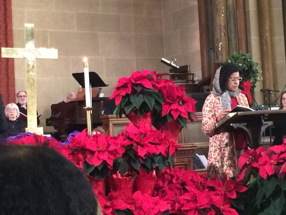 Christmas in New York. Reading from chapter of Mary in the Quran.