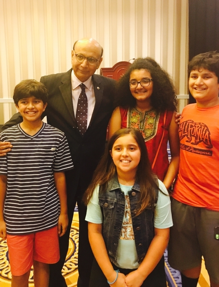 Laila with Khizr Khan and her cousins
