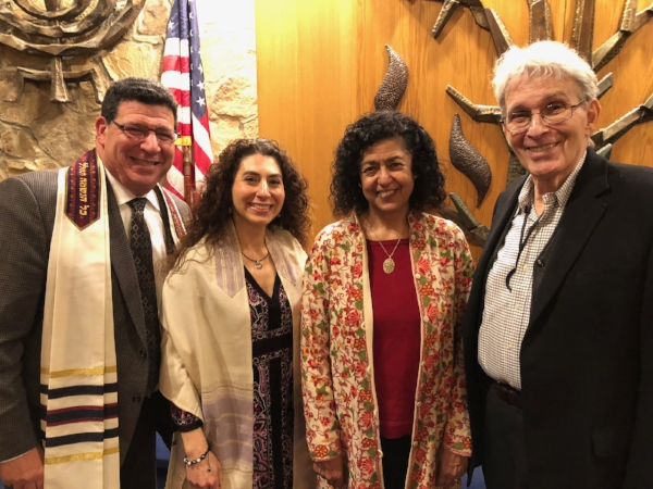 Rabbi L. Malinger, Cantor Sarah Zemel, and Ed Miller, Chair, Adult Jewish Growth