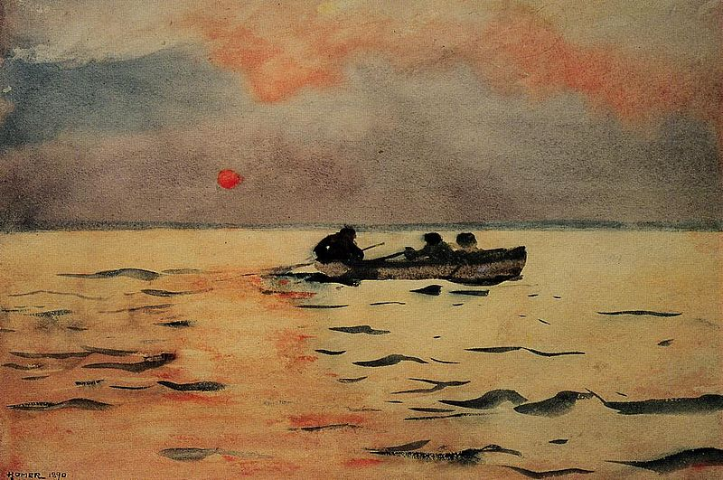 Winslow Homer,  Rowing Home , 1890