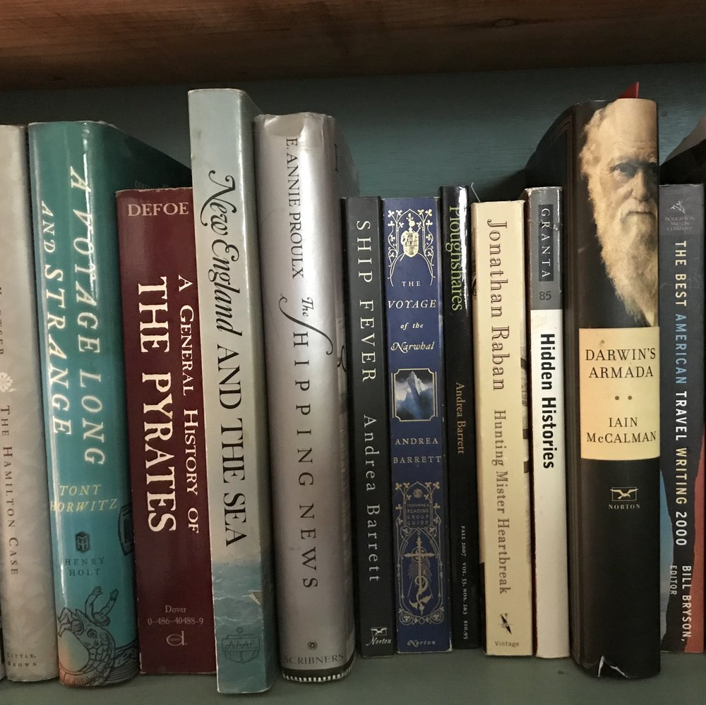 Books about history and the sea.
