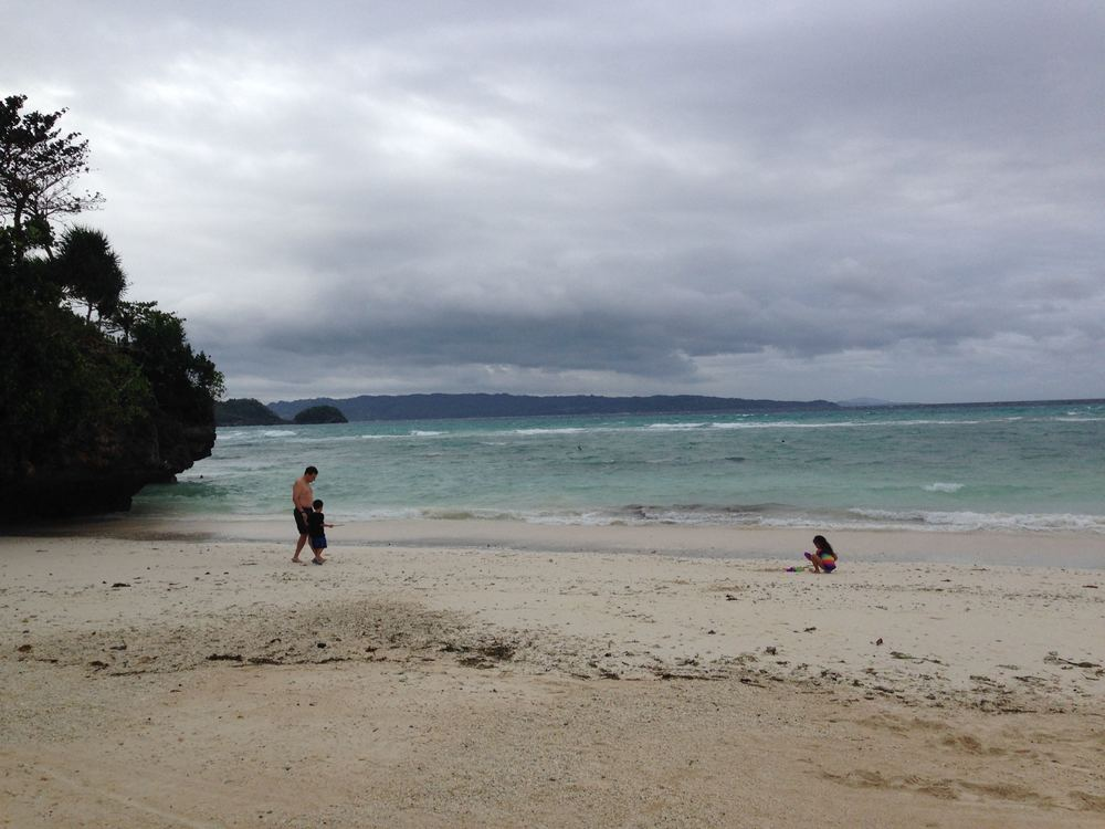 On a cloudy day in Boracay