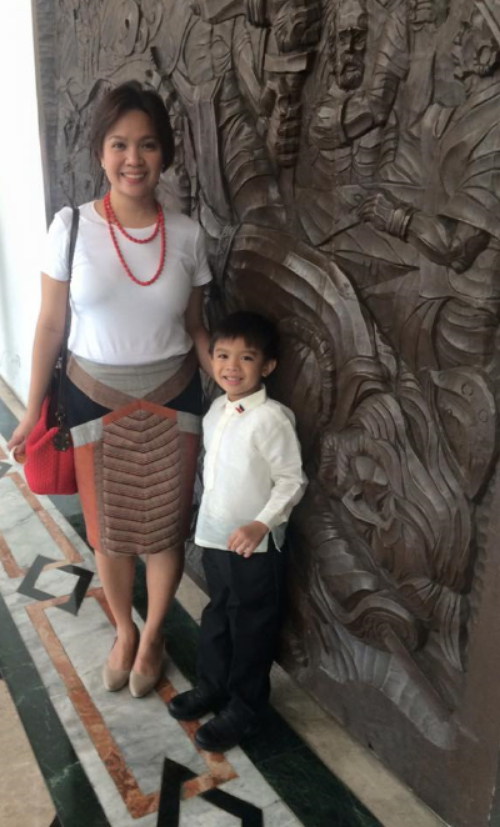 Hanna and son, Tonyo
