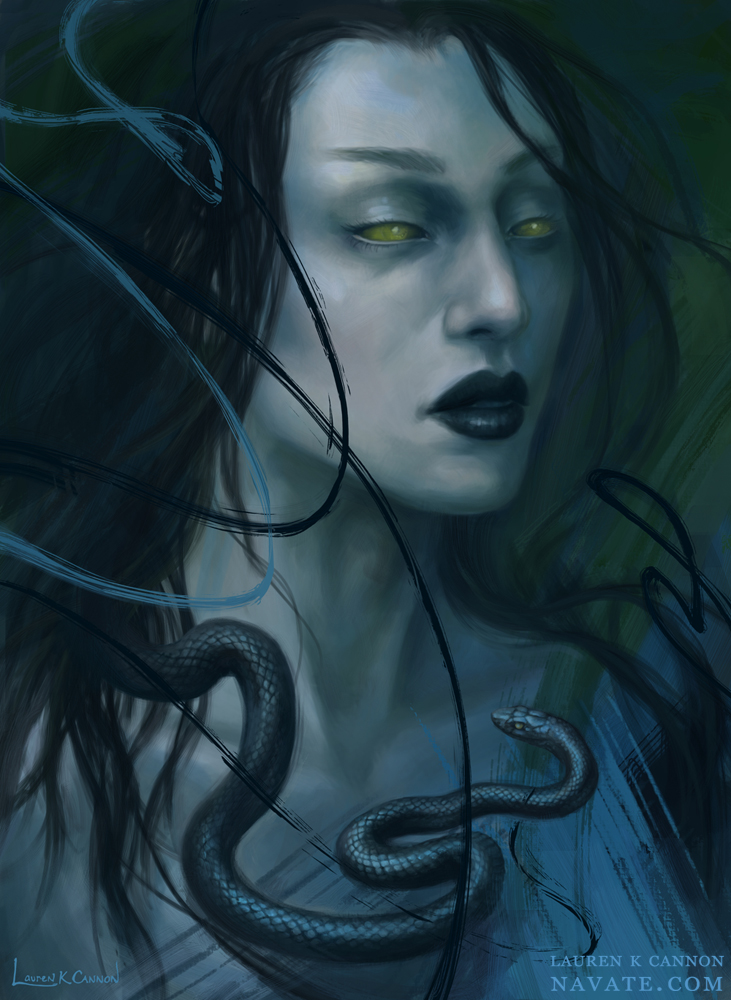 Eve - Navate - dark fantasy and horror illustration Lauren K Cannon art digital painting