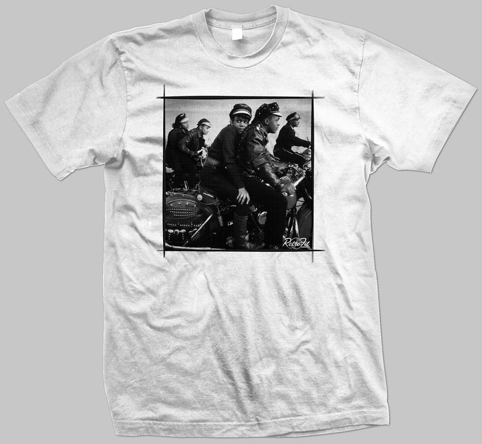 'BIKERS' (BLACK/WHITE COLORWAY)