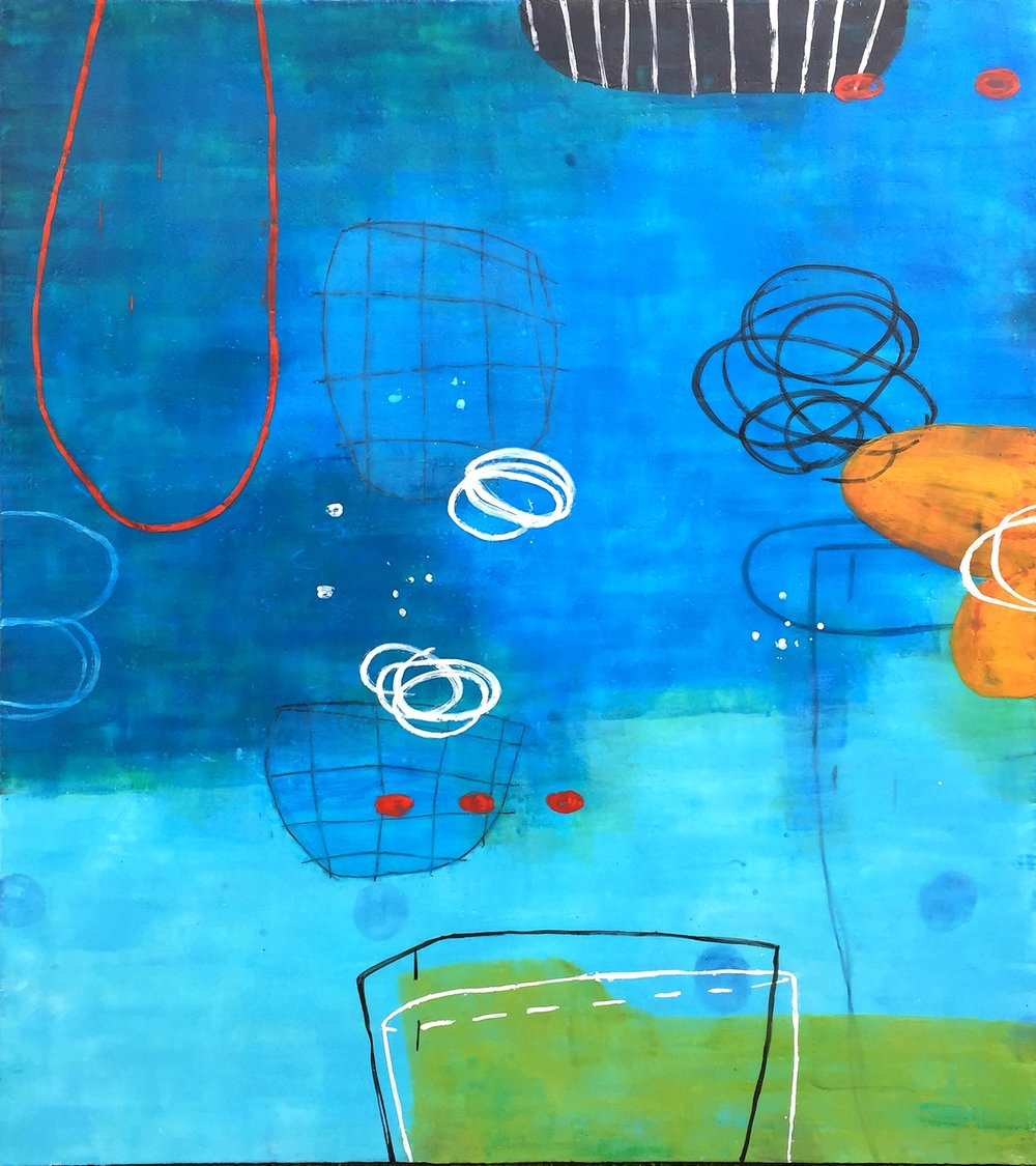 Untitled L862 54x48 Encaustic on panel