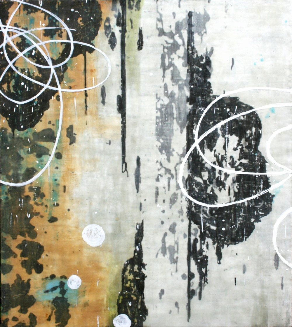 Untitled L833, 54x48, on panel