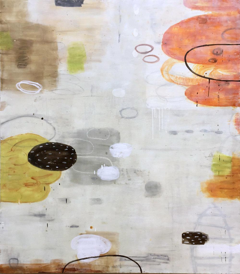 Untitled S325 48x42 encaustic on panel