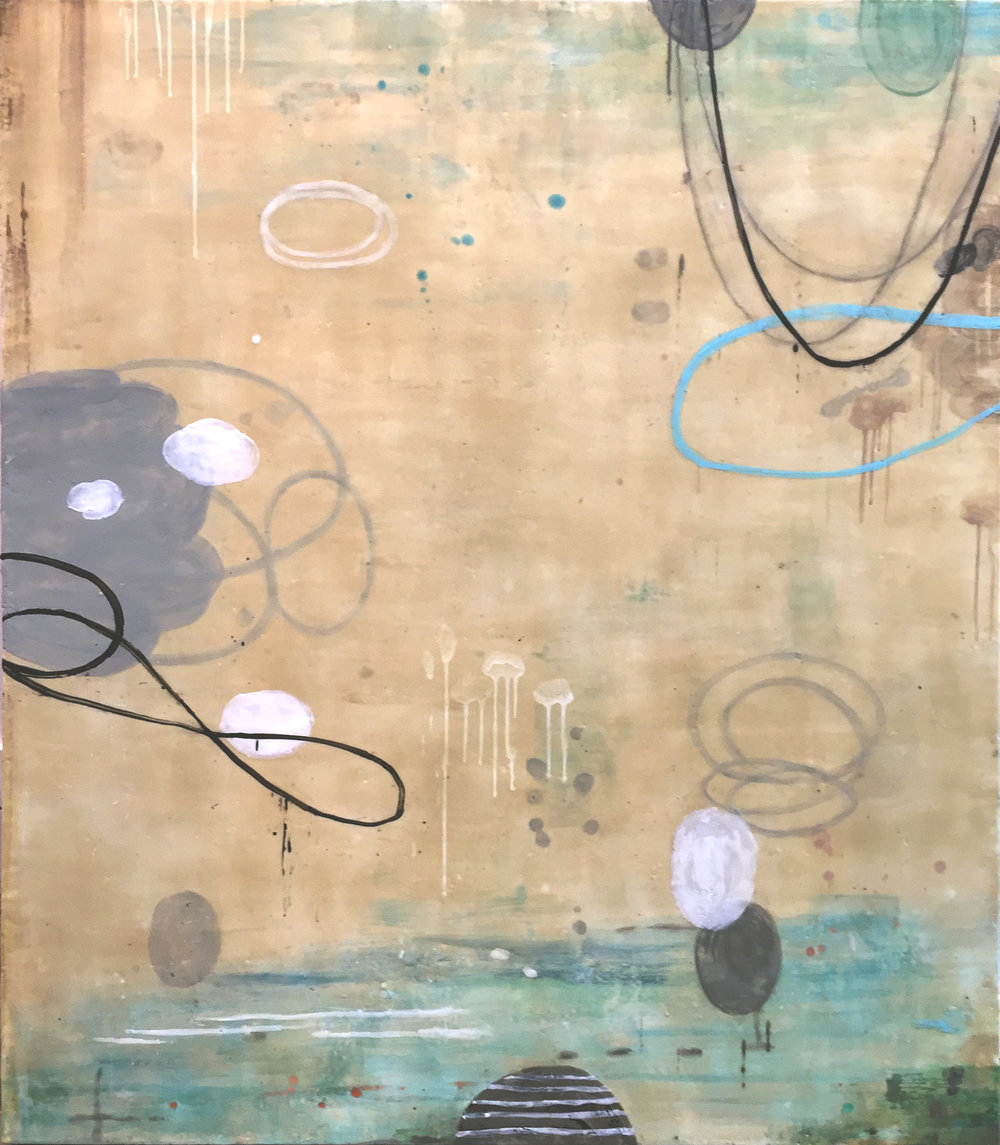 Untitled S326 48x42 encaustic on panel