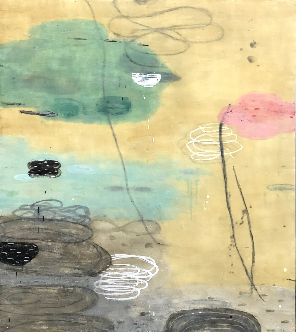 Untitled 372 48x42 encaustic on panel