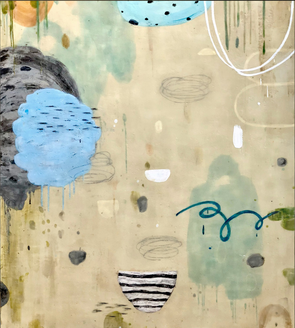 Untitled L897 54x48 encaustic on panel