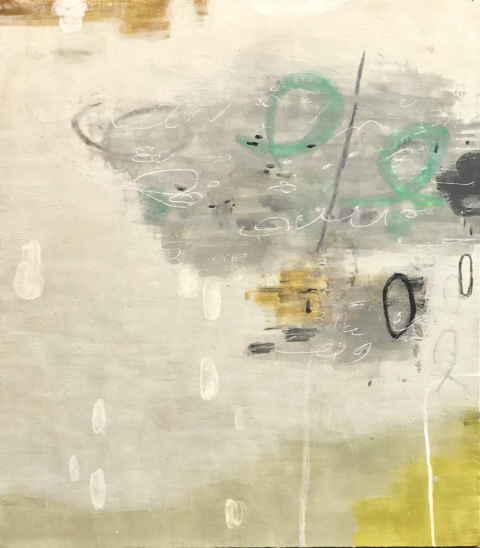 Untitled 349 48x42 encaustic on panel