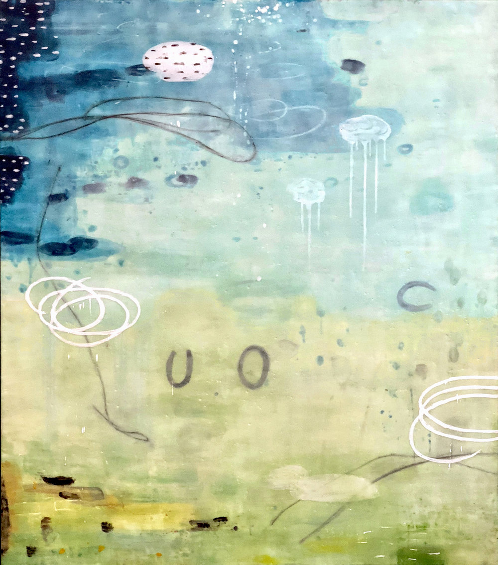 Untitled L896 48x42 encaustic on panel