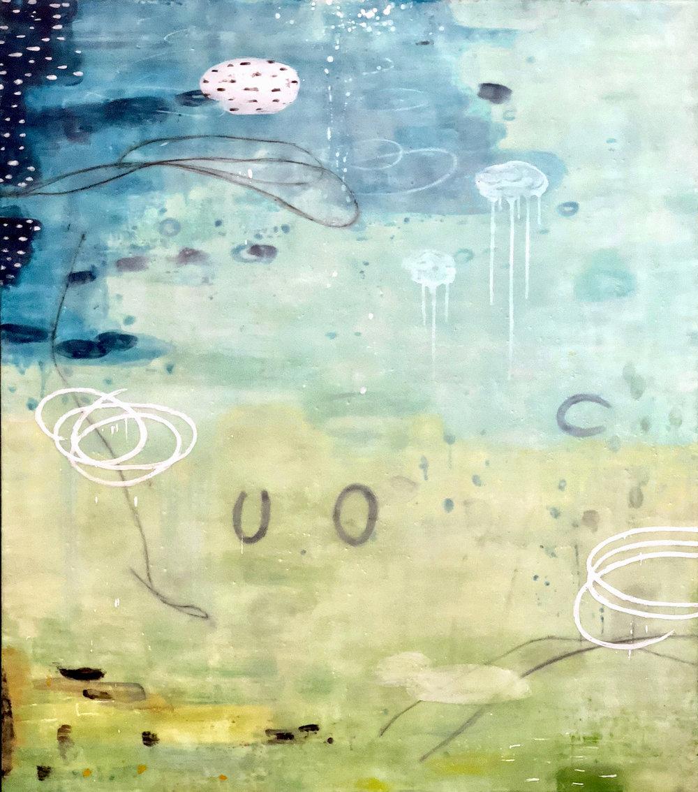 Untitled 350 48x42 encaustic on panel