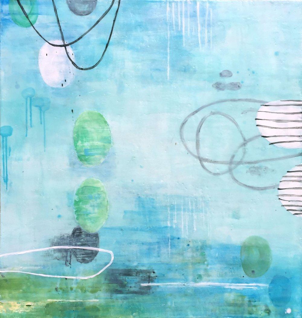 Untitled S319 36x34 encaustic on panel