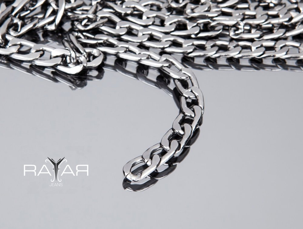 Each pair of Rayar Jeans features chains handpicked from far flung international locales. Young Thug's Slime Jeans boast smoke grey chains, discovered in a crowded market in downtown Ankara, the Capital of Turkey; his black chains were uncovered in Doha, Qatar. The exclusivity of our chains is what makes Rayar Jeans Rare-Jeans.