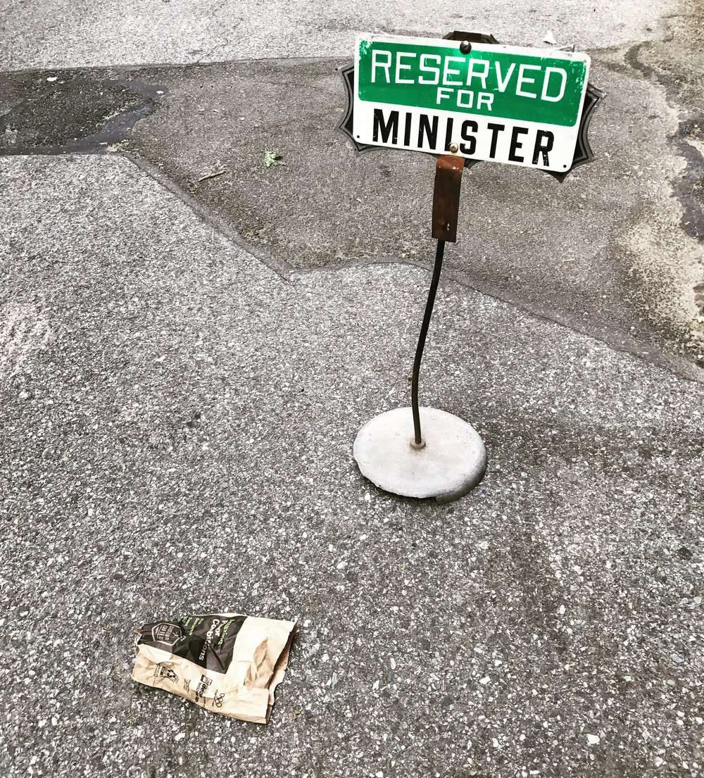 Reserved for Minister, NYC  – 13 x 14 in. – $650