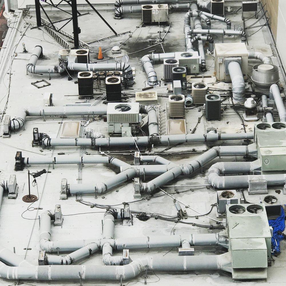 HVAC overkill, San Diego – 13 x 13 in. – $650