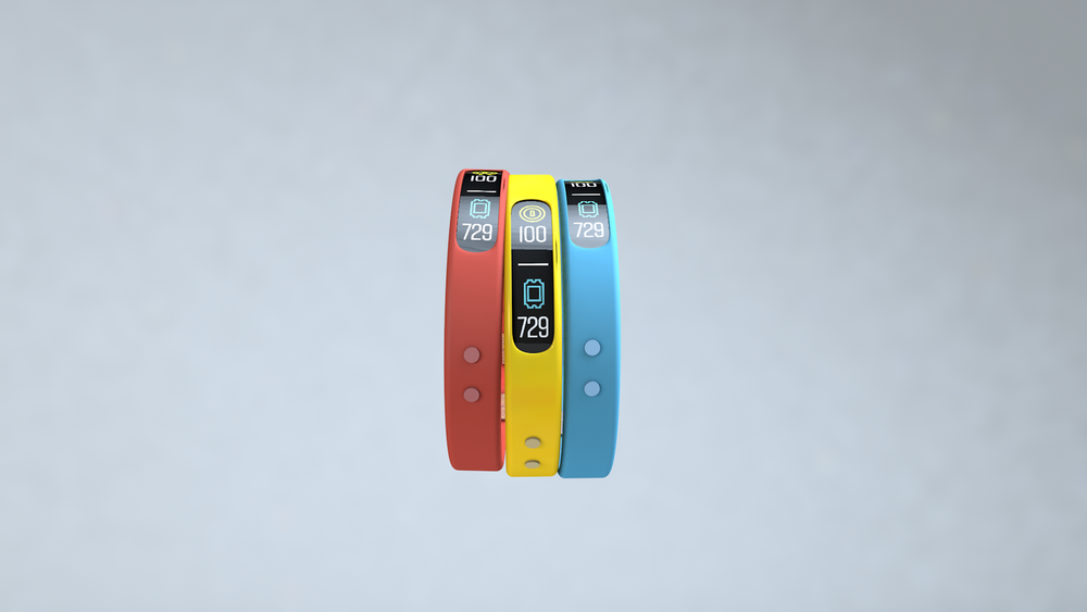 Multi-functional wristbands set up player profiles. They store personal information, send alerts and notifications, track movements, and collect data.