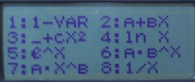 Statistics screen