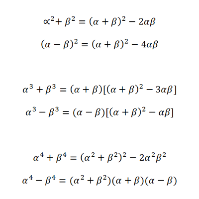 How To Derive The Sum Product Of Roots Identitiesformulas