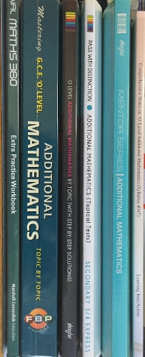 My collection of A Maths Books