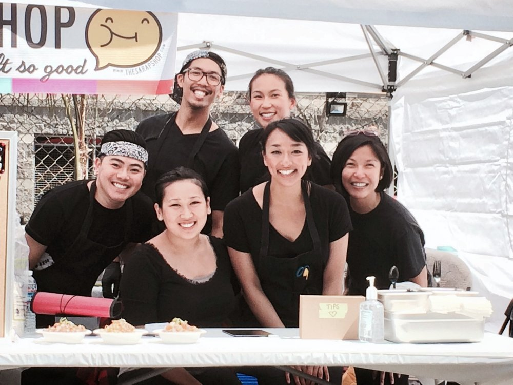 Our very first pop-up at Very Vegan Sunday at SoMa StrEatFood Park. Pictured from left to right:   Jayson, me, Lily, Jessica, Kristen, my mom