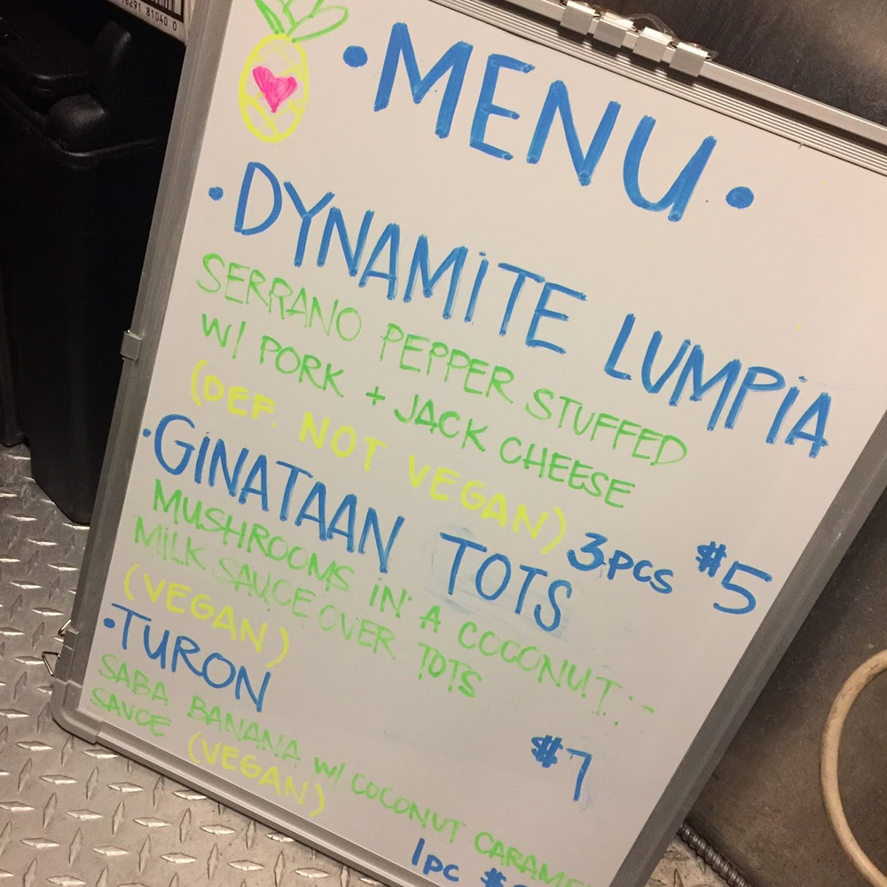 Sold out of ginataan lumpia and had to get creative.