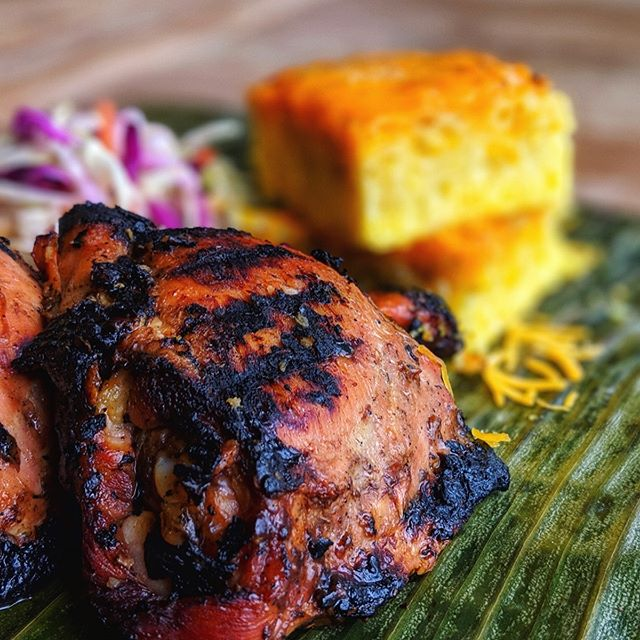 In addition to our mac & cheese bibingka cornbread, we'll be serving limited quantities of a kamayan meal featuring our #plantbased grilled chick'n, which is normally only available on our catering menu. Traditional organic chicken will also be an option! First come, first served.