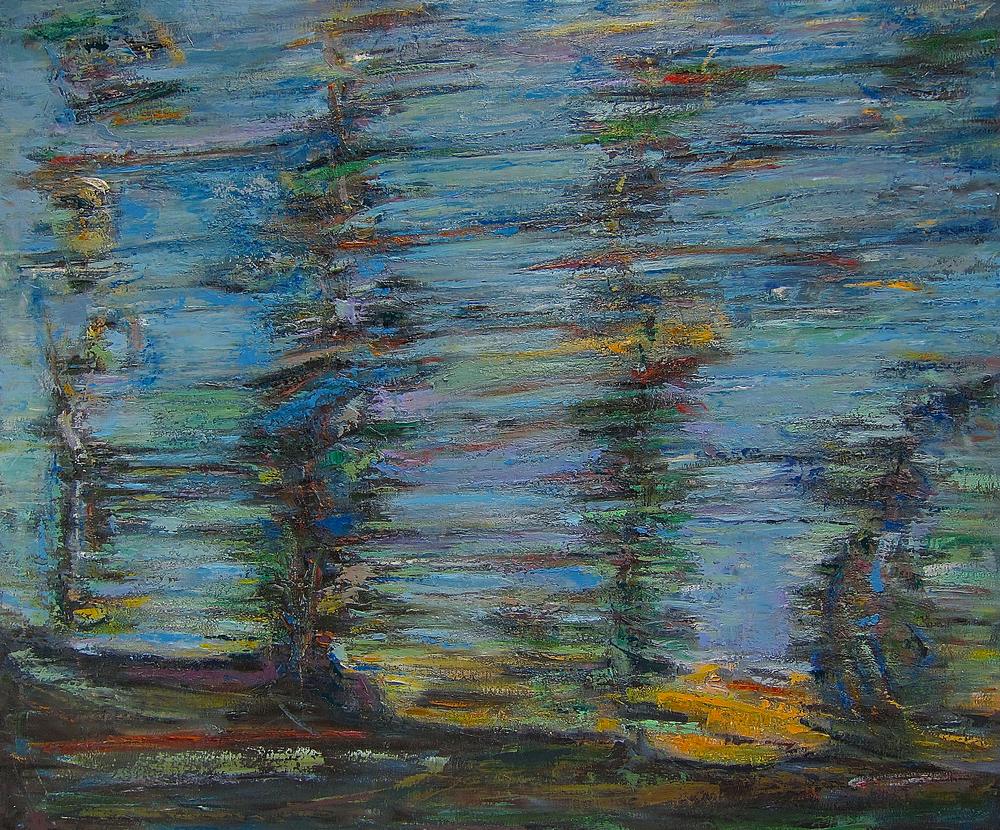 """""""Bruit dans les Arbres 1"""" huile sur lin, 152 x 183 cm"""