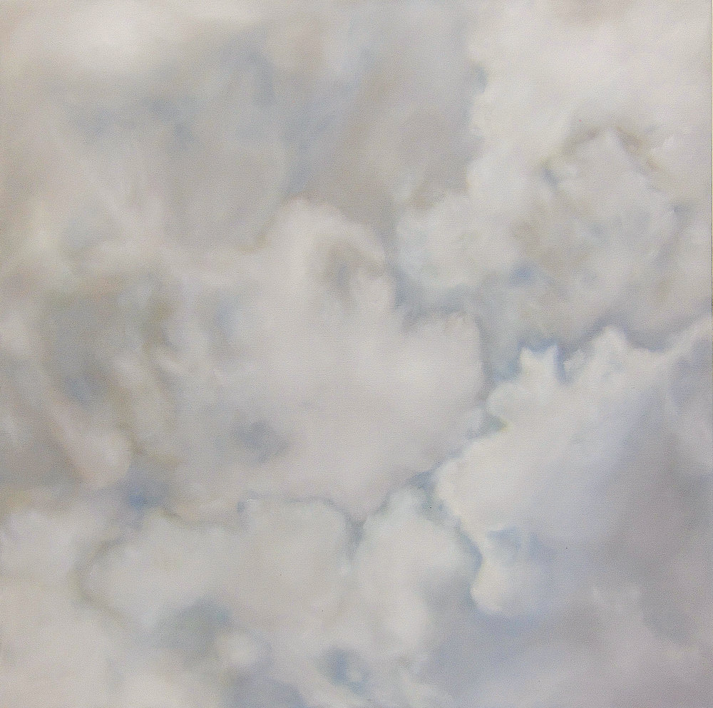 Ciel Insensible , 2017  oil on linen, 63 x 63 in, 160 x 160 cm
