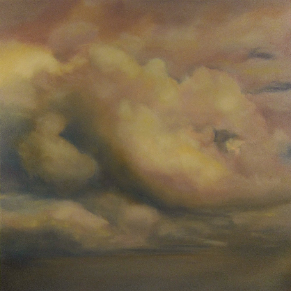 Cieux de Braises , 2017  oil on linen, 63 x 63 in, 160 x 160 cm