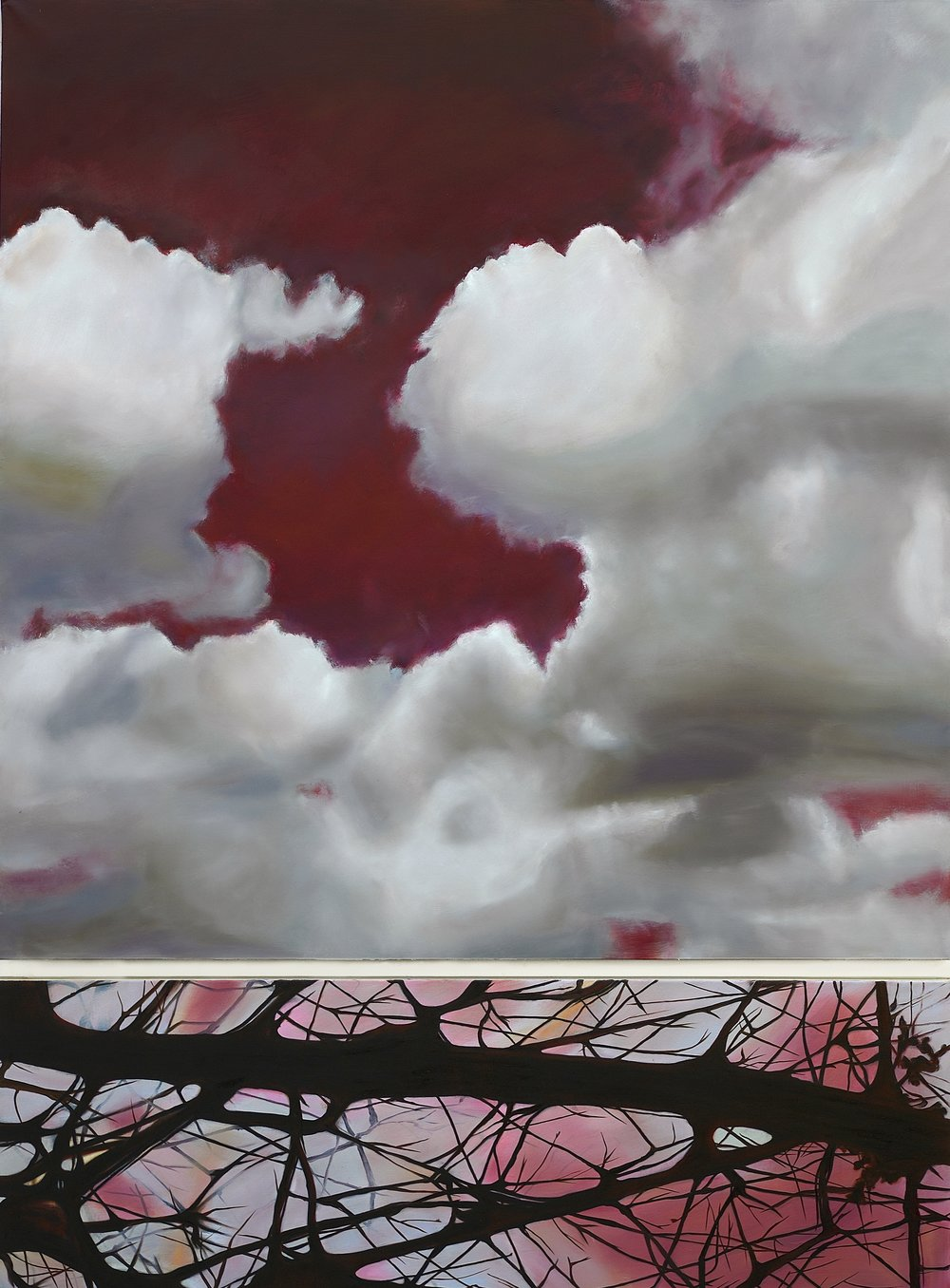Le Dormeur du Val,  2016  oil on linen, diptych, 84 x 63 in, 213 x 160 cm