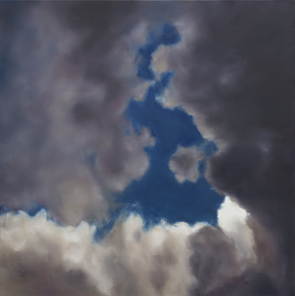 Ether sans Oiseaux 1,  2016  oil on linen, 39 x 39 in, 100 x 100 cm