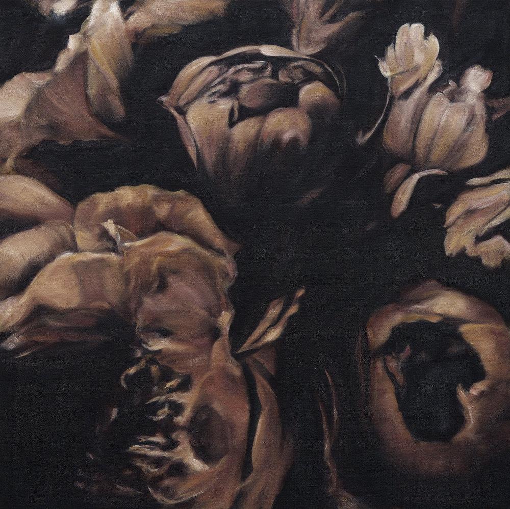 Language des fleurs et des choses muettes No.1,  2016  oil on linen,36 x 36 in, 91 x 91 cm