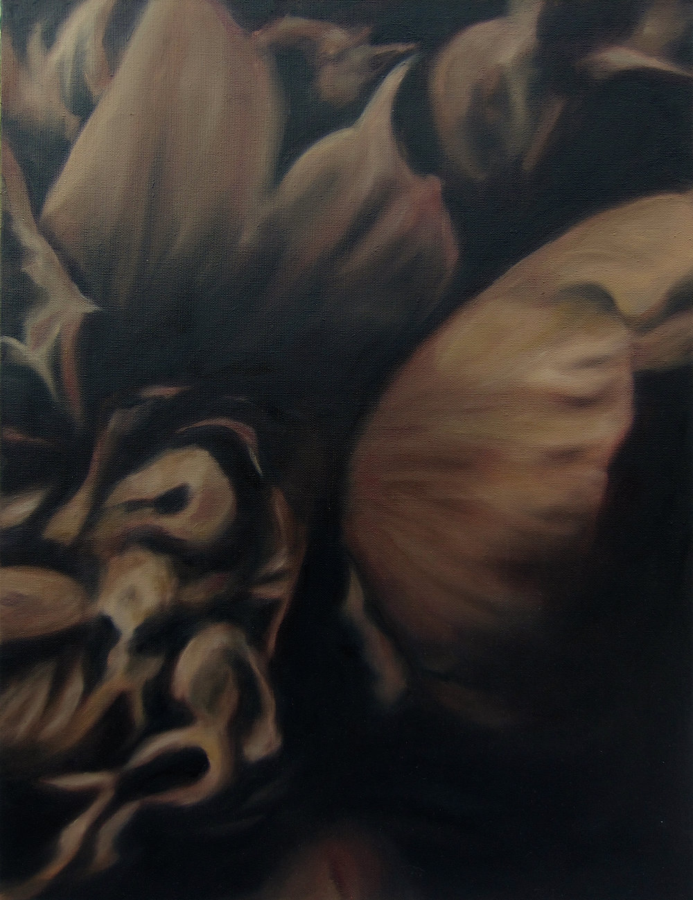 Language des fleurs et des choses muettes No.2,  2016  oil on linen, 36 x 36 in, 91 x 91 cm