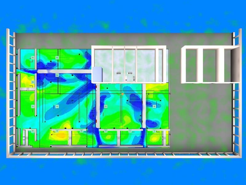Air flow studies of underfloor supply - CFD analysis