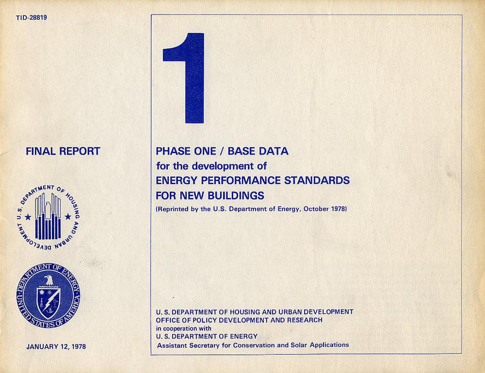 Building Energy Performance Standards, USDOE 1978