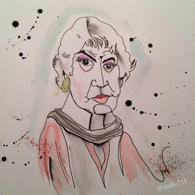 Ralph Steadman inspired Bea Arthur